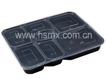 Seven compartment box